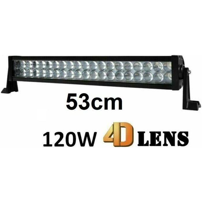 120W 53cm 120W Barre de Travail 4D LED Spot Flood IP67 Jeep 4x4 Camion Offroad 12/24V