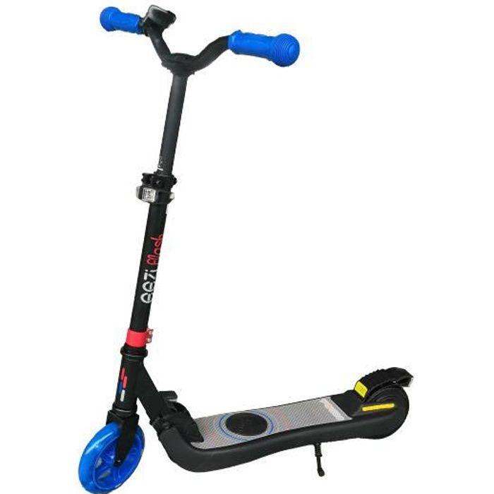 Trottinette électrique pliable EEZIFlash pour enfant 3-8 ans - 120W, 10 Km/h, capacité de charge 50 Kg - Coloris bleu