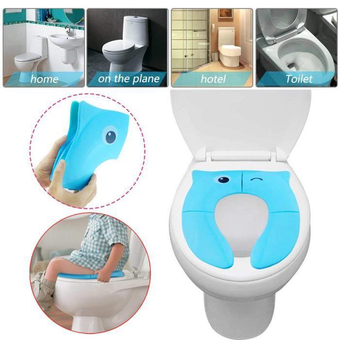 Siège d'entraînement de pot pliable Couvre-siège de toilette de voyage pour bébé Couvre-sièges antidérapants D84