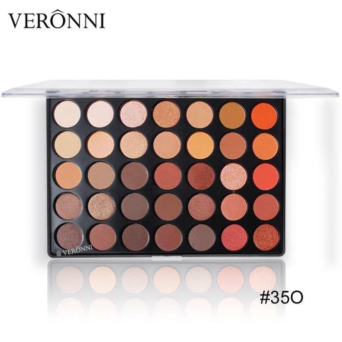 35 Couleurs Matte Shimmer Terre chaud couleur fard à paupières Palette Maquillage des yeux Ombre YWS80711685D_168
