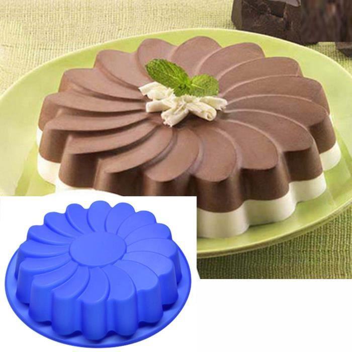 Moule à gâteau Moule à gâteau en silicone de type fleur Ustensiles de cuisine-054