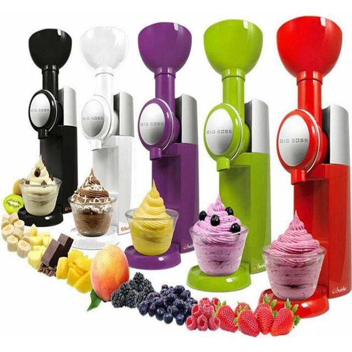 Machine à crème glacée aux fruits de ménage Mélangeur naturel de machine à crème glacée artisanale Machine à glace