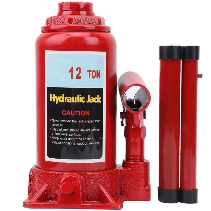Cric Bouteille Hydraulique 12T Cric Hydraulique Cric Hydraulique Voiture Durable Pratique pour Levage de Voiture Opération Sim[208]