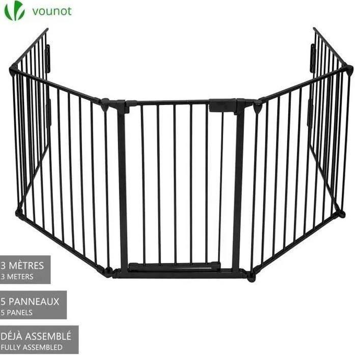 Barriere de securite enfant 3M GRANDE VERSION 5 panneaux Pre assemble