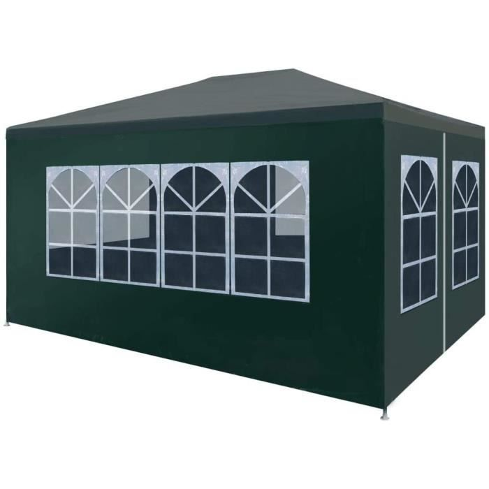 Tonnelle de jardinL Tente de Reacuteception 3x4 m Vert Jardin Terrasse Patio Pavillon Tonelle77