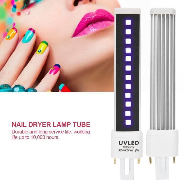 Lampe de remplacement de tube de lumière de séchage de séchage de gel d'ongle de Double Source de lumière Outil de manucure MKK87