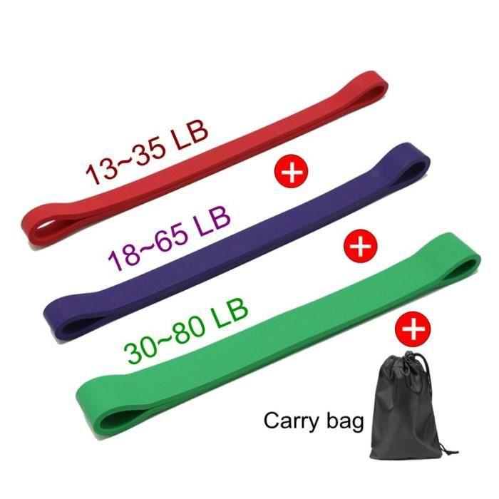 3 pièces ensembles COULEUR Avec sac En de bandes résistance tissu extensible Pour Les bande élastique jambes,
