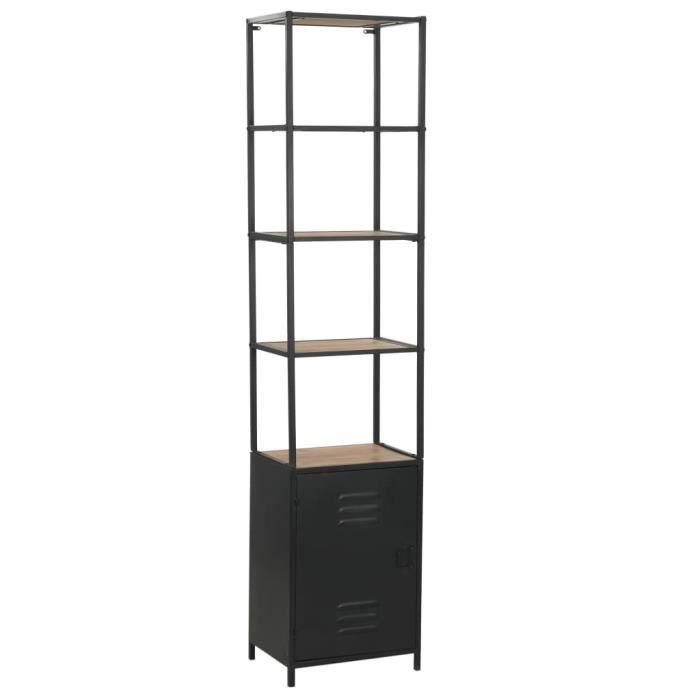 Style Industriel Loft - Bibliothèque Bois de sapin massif et acier 40,5 x 32,5 x 180 cm Meuble de Rangement Meuble Étagère 34031
