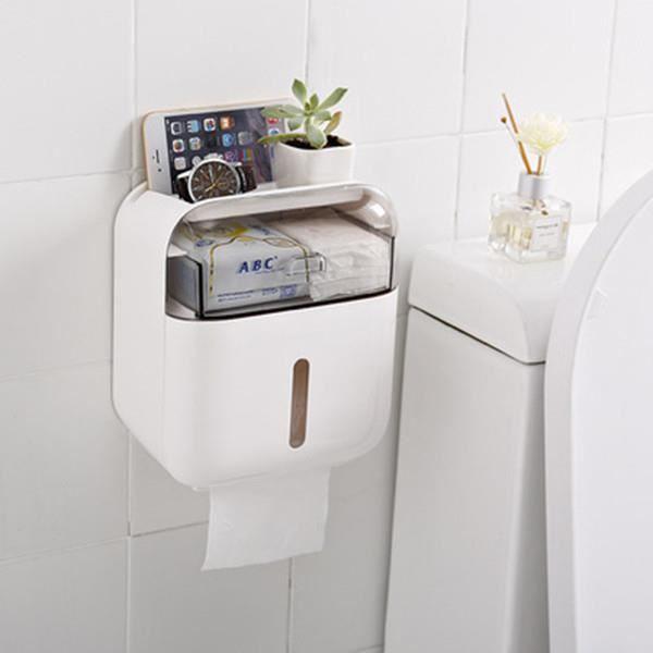Boîte de papier toilette murale, support de papier hygiénique étanche pour les nécessités quotidiennes