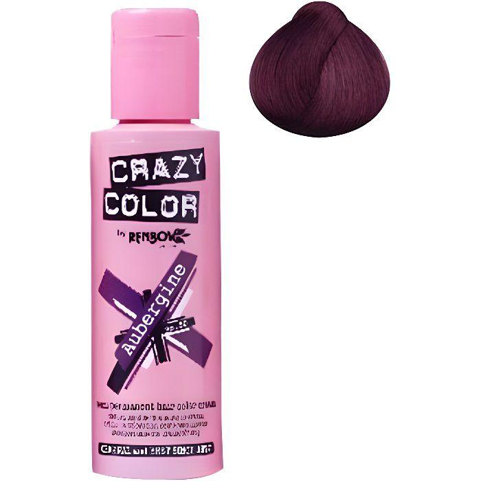 Coloration cheveux semi-permanente CRAZY COLORAUBERGINEPour un look FUN et des cheveux aux couleurs vives et originales !Les