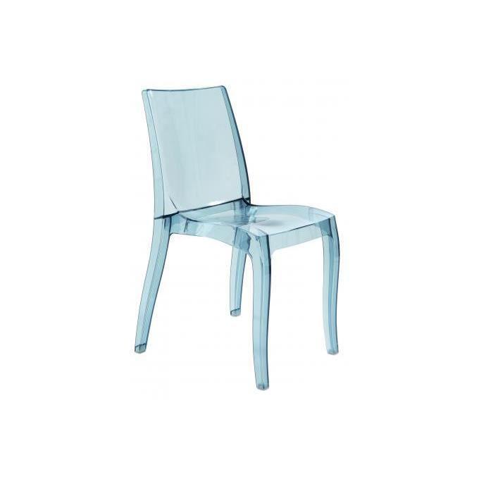 Chaise design transparente grise Athènes