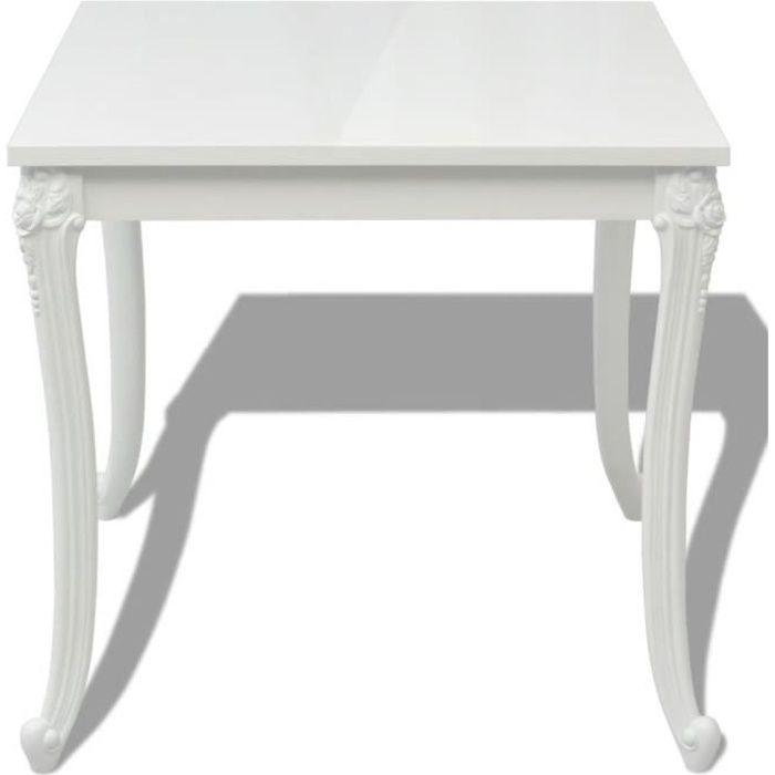 Regisi Table de salle à manger Carré Blanche 80 x 80 x 76 cm-1