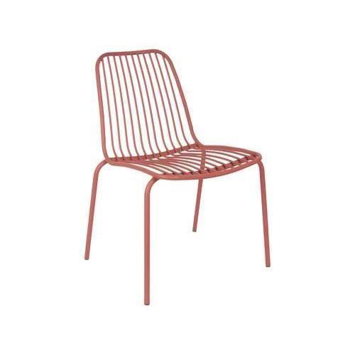 Chaise de jardin lineate en métal terracotta 84x43x43 Rose
