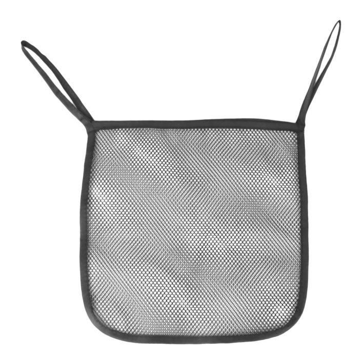 Filet pour poussette pour bébé avec poussette de landau et sac de rangement suspendu 30 x 30cm, noir