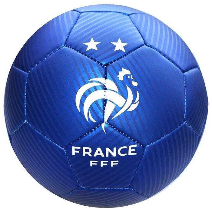 FFF - Mini Ballon de Foot 'Équipe de France' Officiel - Bleu
