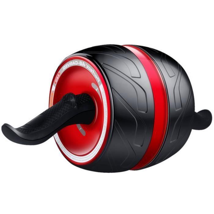 Roue Abdominale AB Wheel Roller Pro de Fitness et Musculation de Corp-Appareil Abdominal avec Tapis Epais pour Genoux