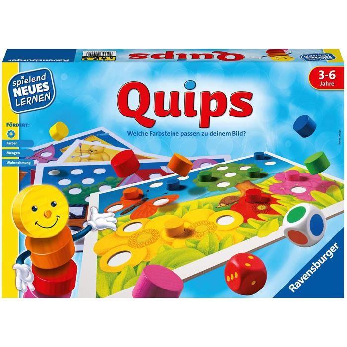 24920 – quips – jeu et apprentissage pour enfants de 3 à 6 ans – jeu éducatif pour 2 à 4 joueurs
