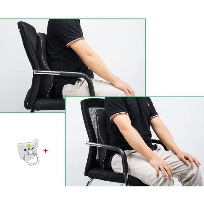 REMYCOO® Respirant Oreiller Coussin Lombaire Dos Chaise Bureau Voiture Coussin pour Dos /Coussin Lombaire Ergonomique