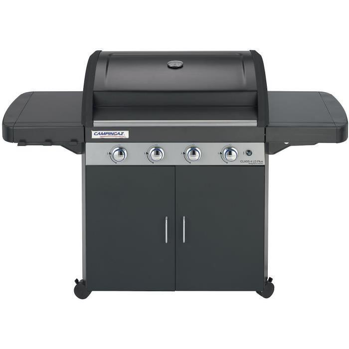CAMPINGAZ Barbecue à gaz CLASS 4 LD Plus - Grille Culinary et Plancha fonte - 78 x 45 cm - 4 brûleurs en inox