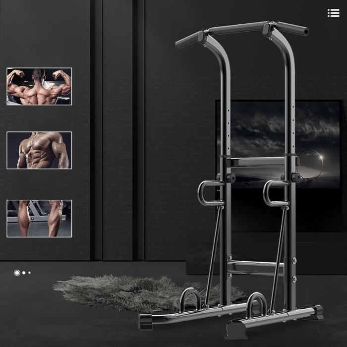 TEMPSA Barre de Traction Ajustable Station Musculation Dips Station Fitness