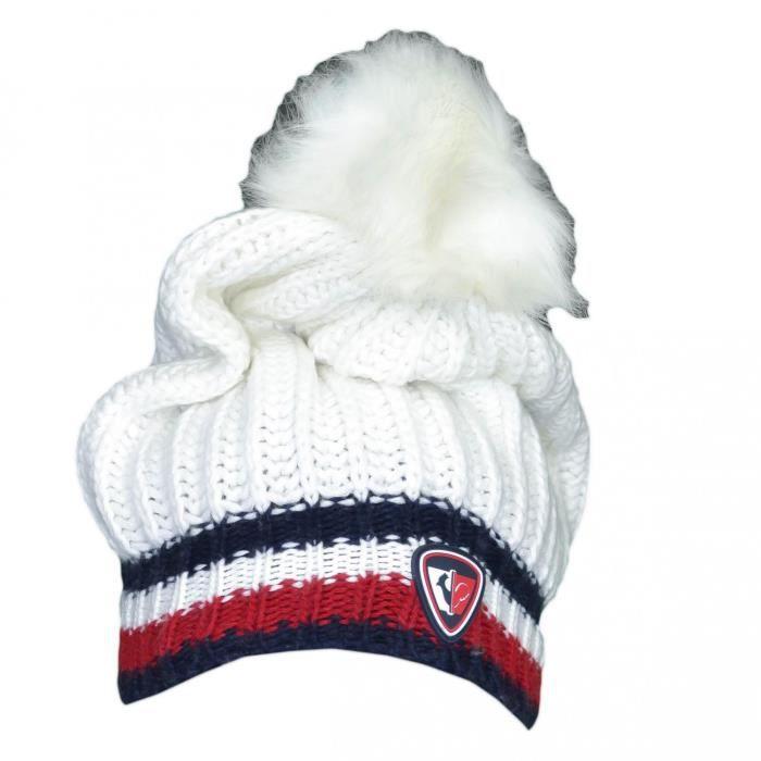 Bonnet tricoté Tommy Hilfiger by Rossignol blanc pour femme - Couleur: Blanc - Taille: TU