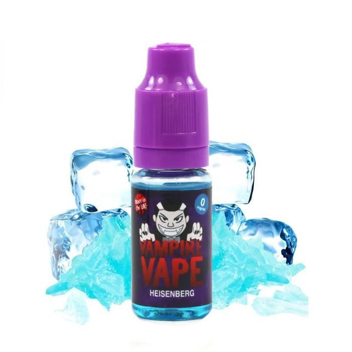 E-liquide Vampire Vape Heisenberg 12mg 10ml 10+3 Offert + 1 Porte clef Jetons Caddie Offert