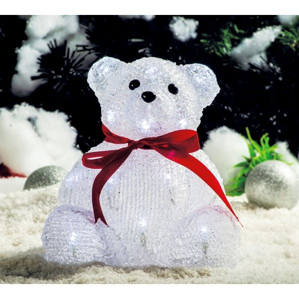 Superbe illumination de no l ours assis lum achat - Video illumination de noel exterieur ...