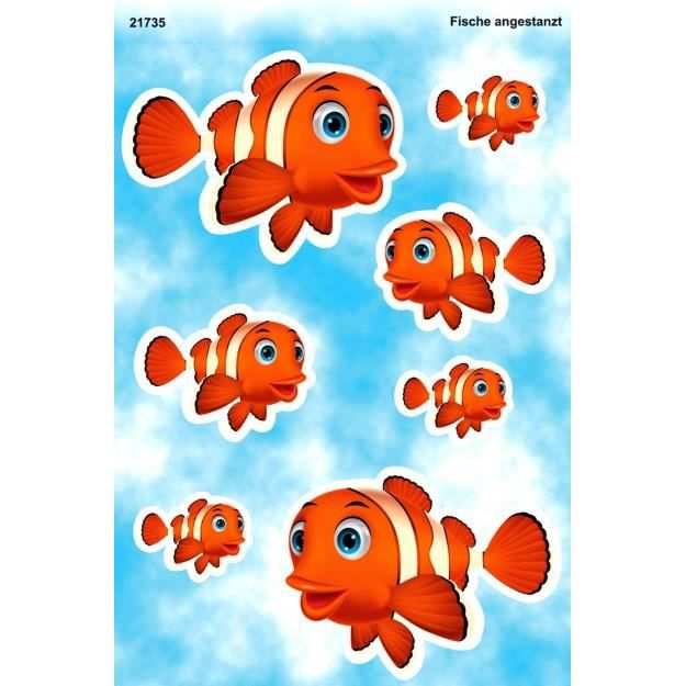 Autocollant clown poissons 300 x 200 mm achat vente for Poisson clown achat