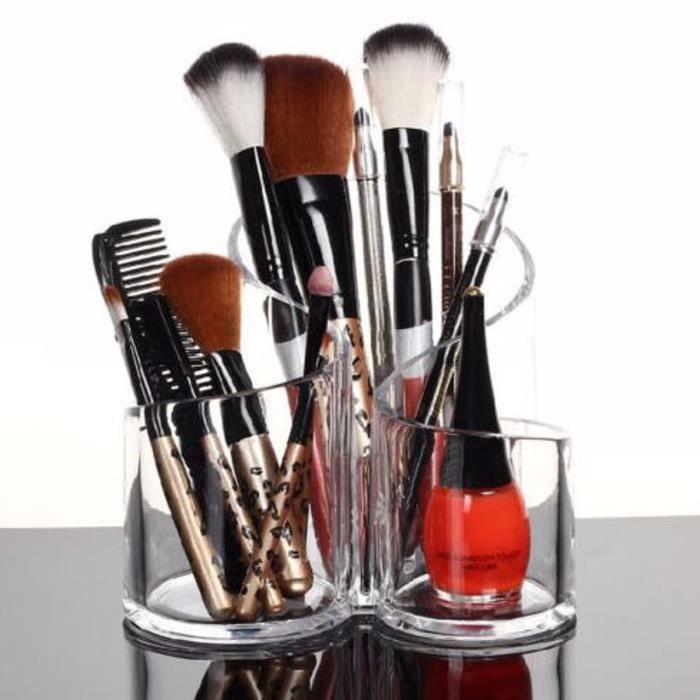 Presentoir Pinceaux Maquillage Rangement Acrylique Achat Vente Pinceaux De Maquillage Presentoir Organisateur Pincea Cdiscount