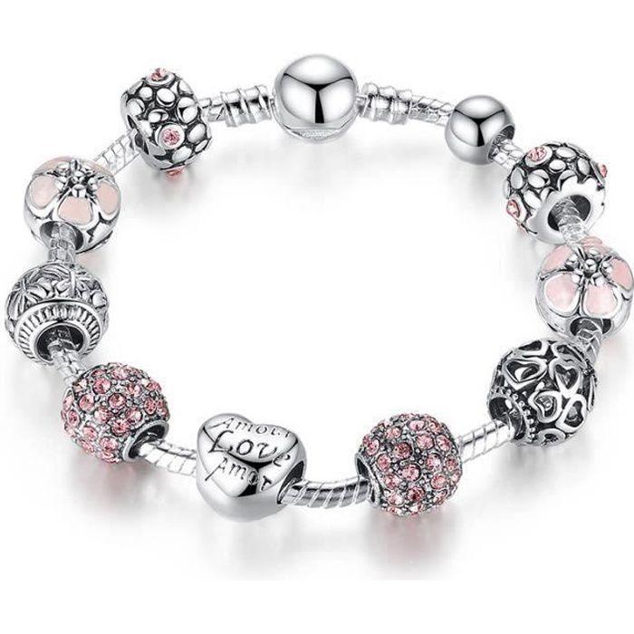 Bracelets Femmes avec 925 Argent fin Bracelet infi