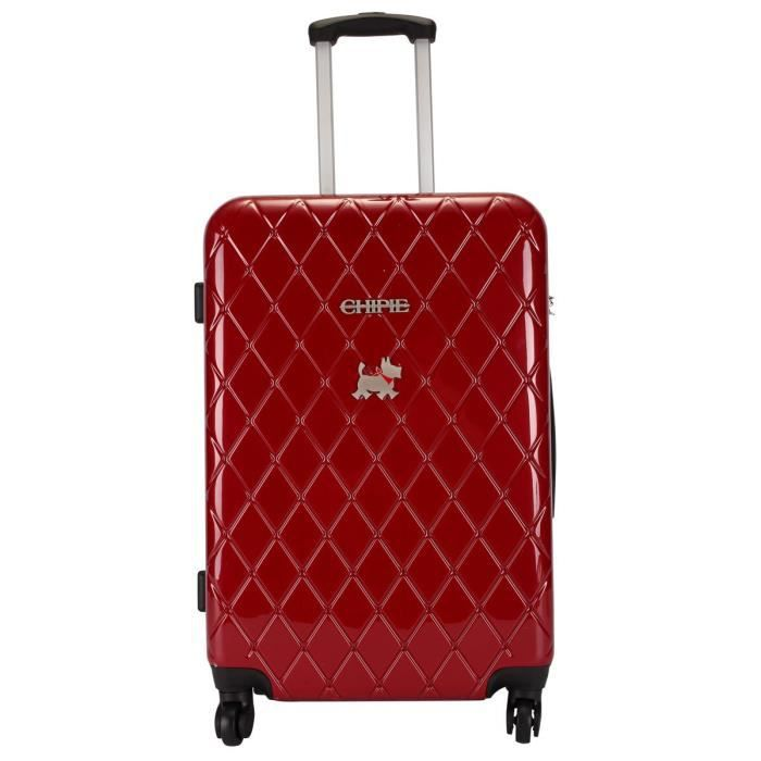 valise moyenne 60 cm rouge de la marque chipie rouge rouge achat vente valise bagage. Black Bedroom Furniture Sets. Home Design Ideas
