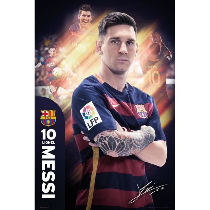 poster fc barcelone achat vente poster fc barcelone pas cher les soldes sur cdiscount. Black Bedroom Furniture Sets. Home Design Ideas