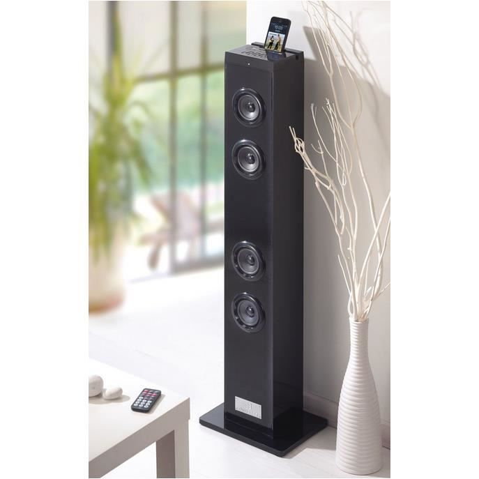 tour d 39 enceinte haut parleur 20w bluetooth enceintes. Black Bedroom Furniture Sets. Home Design Ideas