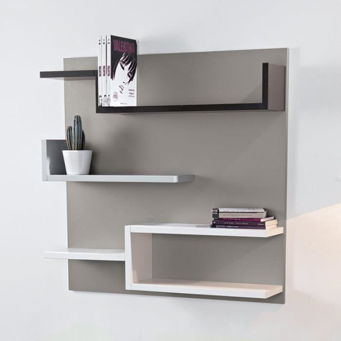 biblioth que murale design myshelf fond gris taupe achat vente biblioth que biblioth que. Black Bedroom Furniture Sets. Home Design Ideas