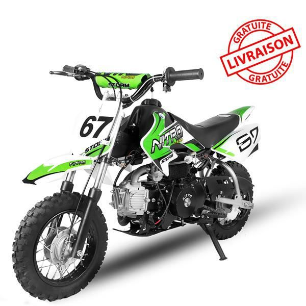 moto essence dirt bike cross temp te verte 90cc achat. Black Bedroom Furniture Sets. Home Design Ideas