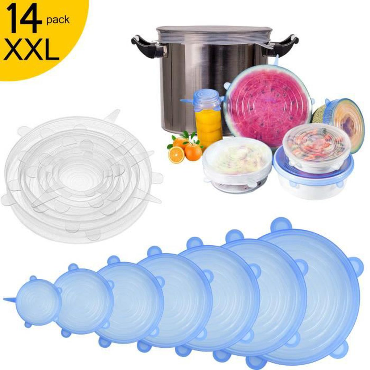 12 cm Silicone Réutilisable aspiration joint couvercle Food Saver Couvre Pan Bowl Cuisine Chaleur