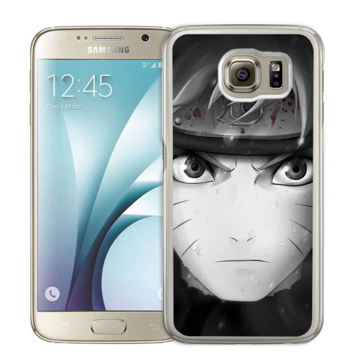 Coque Samsung Galaxy S5 : Naruto Nori Et Blanc