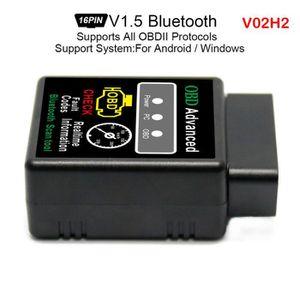 OUTIL DE DIAGNOSTIC V02H2 Bluetooth Scanner V1.5 Code Interface sans f