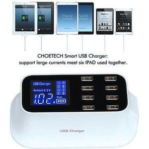 CHARGEUR TÉLÉPHONE 8 Port Chargeur USB Station de Recharge Rapide 40W