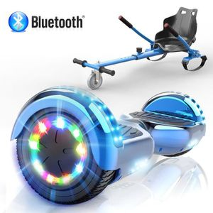 ACCESSOIRES GYROPODE - HOVERBOARD Pack Hoverkart Blanc+MegaMotion Scooter 2 Roues Ro