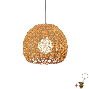 LUSTRE ET SUSPENSION  Lustre - suspension boule rotin Ø20cm  Hauteur pl