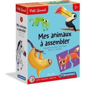 JEU D'APPRENTISSAGE CLEMENTONI Petit Savant - Mes animaux à assembler