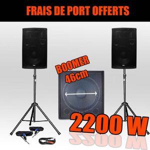 PACK SONO Pack 1812 Sonorisation 2200W Caisson bi-amplifié
