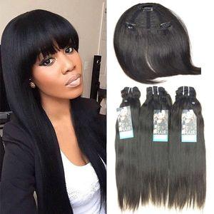 PERRUQUE - POSTICHE 3 Tissage Lisse Cheveux Humains Naturel Bresilien