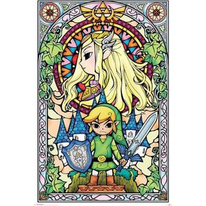 AFFICHE - POSTER Poster 79 The legend of zelda - Stained glass