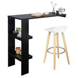 MANGE-DEBOUT SoBuy® FWT55-Sch Table de Bar Murale Table Haute d