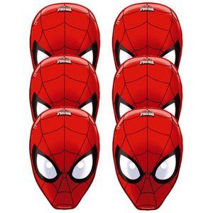 MASQUE - DÉCOR VISAGE Masques Spiderman (x6)