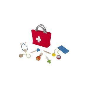 DOCTEUR - VÉTÉRINAIRE Mallette Docteur avec 6 accessoires en bois - Jeu