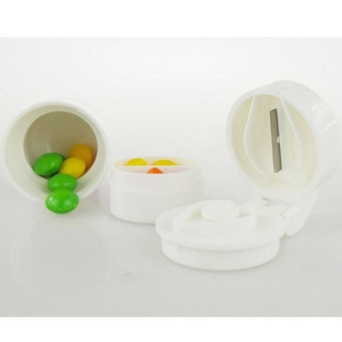 Pilulier hebdomadaire pour médicaments, boîte à pilules, broyeur, séparateur, coupe-tablette, boîte à pilules, [16CD7DD]