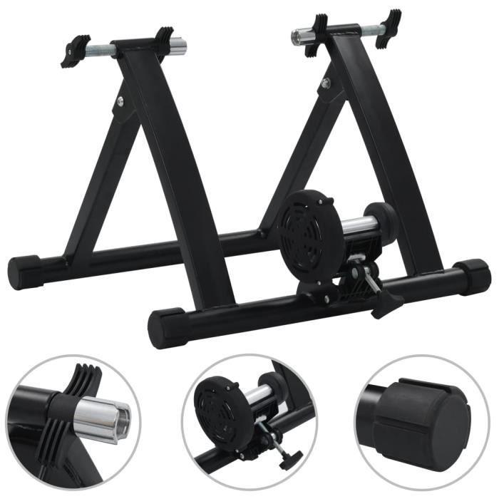 Support à rouleau pour vélo d'appartement 26po-28po Acier Noir